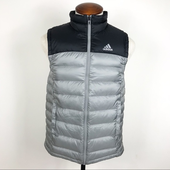 6923a0b2b9d4 adidas Other - Adidas Puffer Vest Coat Gray Black Medium